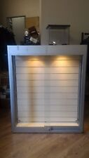 Wall mounted display unit with lighting and Glass