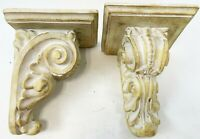 "Modern Pair 10"" Greek Roman Cast Hallow Plaster Resin Sconce Wall Shelf Shelves"