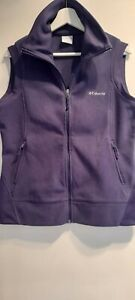 Columbia Ladies Navy Blue Polar Fleece Body Warmer Vest Size Large