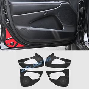 Carbon Fiber Side Door Anti Kick Pad Trim For Jeep Grand Cherokee 2014-2019