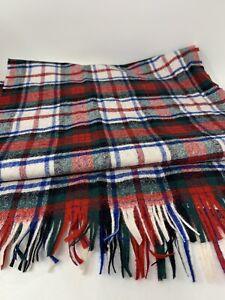 """Pendleton Dress Mac Duff Tartan Scarf  100% Virgin Wool 56"""" Long Made in USA"""