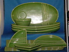 AT HOME AMERICA Green With Envi Entertainers Dishware with table runner