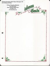 Christmas Seal Stamp Album Pages, blank pages with color heading and border