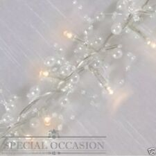 30 Pearl White LED Decorative String Fairy Lights Battery Approx 1.8 M