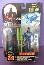 Kenner Batman Deluxe! Nightwing Robin Plus Battle Vehicle Hydro Jet 1998 N.O.S
