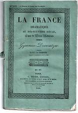 Pièce de théâtre. Gymnase. Daniel le tambour. 1843. Auvray. Comédie-vaudeville