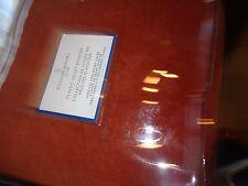 Williams Sonoma Classic velvet duvet King spice New
