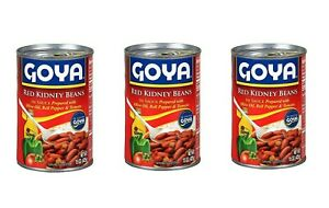 3Pk/15OZ GOYA RED KIDNEY BEANS IN SAUSE WITH OLIVE OIL BELL PEPPER  15 oz