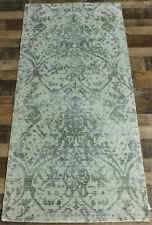 "2'7""x6' New fine Silken pile Hand loomed Modern Broken Design area rug runner"