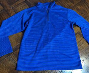 Patagonia Boys Pullover M Blue/black Stripes