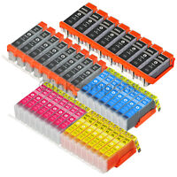 40x XL TINTE PATRONEN mit CHIP für CANON PIXMA IP7250 MG5450 MG5550 MG6450 MX925