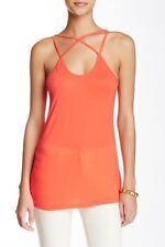 New Free Press Coral Hot Crisscross String Tank Top Shirt Womens Size S Small
