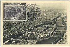 carte Maximum PARIS  Vue aérienne ( rare YVERT PA 29 )