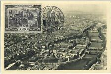 carte Maximum PARIS (rare) Vue aérienne (de 1950)