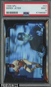 1996 SPx Holoview Die-Cut Derek Jeter New York Yankees HOF PSA 9 MINT