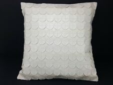 Mid Century Vintage Faux Leather Pillow With Disc Design 16x16
