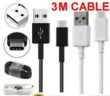 3M Metre Extra Long USB Type C 3.1 Fast Data Charger Cable for Samsung Galaxy S9