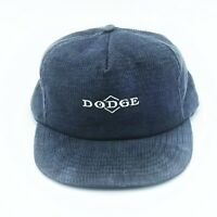 VINTAGE DODGE Corduroy BLUE Trucker Baseball Hat Cap SnapBack 70s 80s Dad Hat