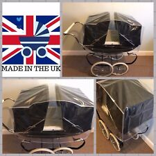 RAINCOVER TO FIT SILVERCROSS TWIN OBERON DOLLS PRAM, DUST COVER, MADE IN UK