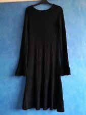 Next Black Viscose Blend Mid Length Ribbed Jumper Dress Size 8