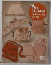 Patons Baldwins  Knitting Book no 252  old Vintage book