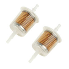 2 x Universal Petrol Inline Fuel Filter LARGE Car Part Fit 6mm and 8mm Pipes