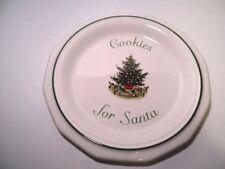"Pfaltzgraff Christmas Heritage Cookies For Santa Plate 8 1/2"" Made USA"