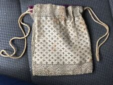 Vintage 1920's Small Beaded Drawstring Evening Bag/Pouch