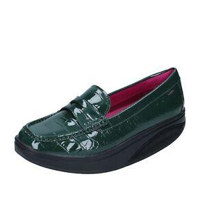 scarpe donna MBT mocassini verde vernice dynamic BZ906