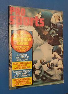 1974 Pro Sports Magazine Larry Csonka Miami Dolphins HOF **FREE SHIPPING**