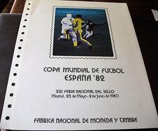 DOCUMENTO FILATELICO FNMT COPA MUNDIAL DE FUTBOL ESPAÑA 82 Nº 10