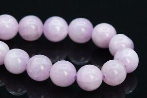 "7MM Genuine Natural Purple Pink Kunzite Beads Grade AA Round Loose Beads 7.5"""