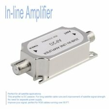 Satellite 20dB In-line Amplifier 950-2150MHZ Signal Booster For Antenna LSU