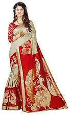Women Saree Ethnic Party Wear Wedding Designer Art Silk Sari