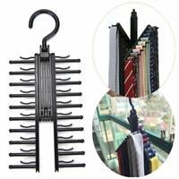 Closet Tie Rack Rotating Hanger Belt Organizer Ties Holder Scarf Storage Necktie