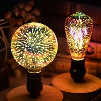 3D LED Bulb Star Firework E27 Vintage Edison Colorful Bombillas Night Light