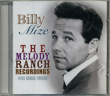 BILLY MIZE * 36 Greatest Hits * Melody Ranch Recordings* All Orig Songs * NEW CD