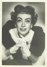 JOAN CRAWFORD Original Vintage Handsigned Photo Portrait 1950's