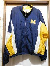 CHAMPION Full Zipper Front MICHIGAN Wolverines Colorblock WINDBREAKER size XL