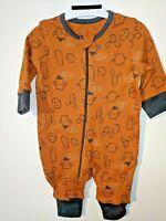 Baby Orange Cactus Babygrow / Sleepsuit - Age 0 1 2 3 6 9 12 Months Footless Zip