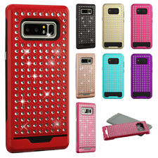 Samsung Galaxy Note 8 HYBRID IMPACT Diamond Layered Case Phone Cover Accessory