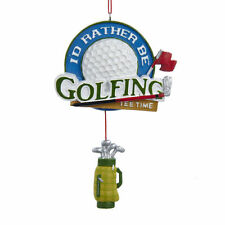 I'd Rather be Golfing Decorative Christmas Ornament Golf Bag Tee Time Ornament
