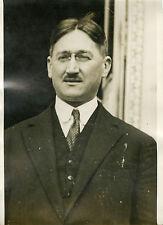 """""""Mr LAMOUREUX Rapporteur aux Finances 1932"""" Photo originale G. DEVRED / Agce ROL"""