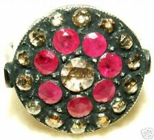 VINTAGE ESTATE 9K GOLD .56CT DIAMOND & 1.13CT RUBY RING