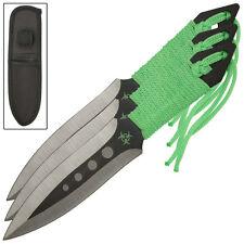 Zombie Killer Demon Knight Biohazard 3 Piece Throwing Knives Knife Set Wrapped