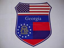 2 GEORGIA  STATE FLAG SHIELDS BULLDOGS EAGLES CAR WINDOW BUMPER STICKERS USA