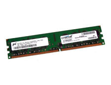 1GB	DDR2, Crucial	CT12864AA667, SDRAM, PC2-5300, Non-ECC, 240 Pin