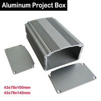 Aluminum DIY Instrument Case Project Box Enclosure Electronic43x78x100mm/140mm