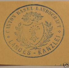 Canton Basel Landschaft Landes Kanzlei Siegel-Stempel Abdruck Siegelmarke 1895