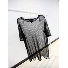 Fashion See through Sheer Mesh Short Sleeve Tee T Shirt Oversize Tops Blouse 1PC